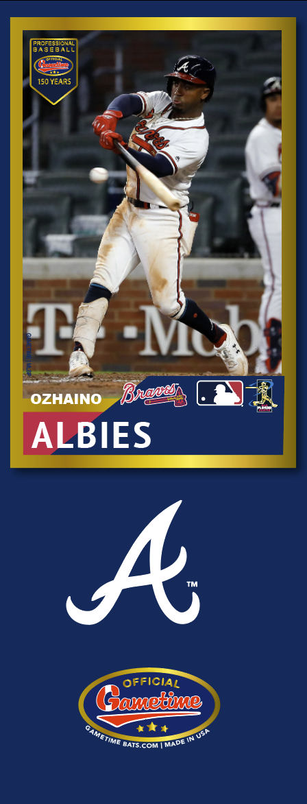 Ozhaino Albies Photo Bat | MLB Collection