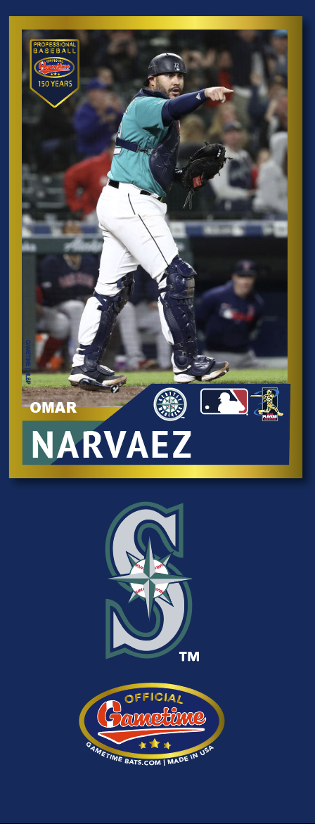 Omar Narvaez Photo Bat | MLB Collection