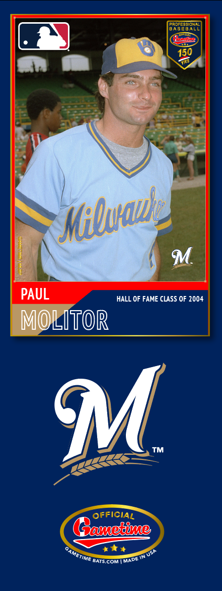 Paul Molitor Photo Bat | MLB Hall of Fame Collection
