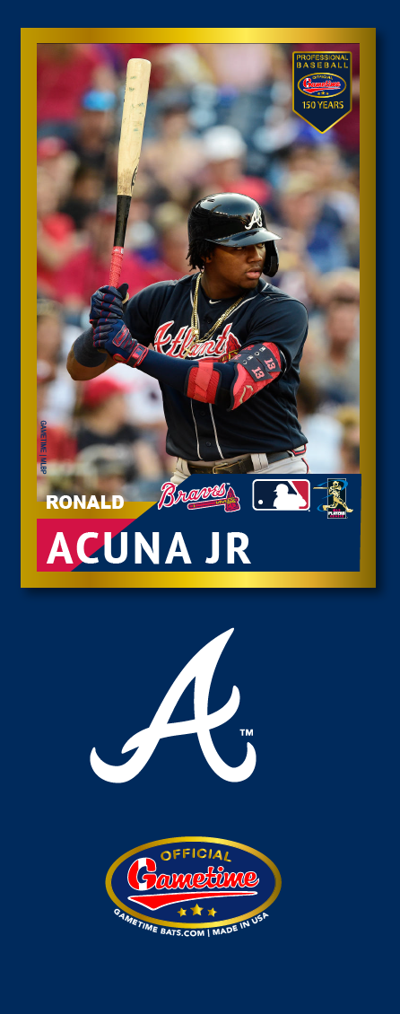 Ronald Acuna Jr. Photo Bat | MLB Collection