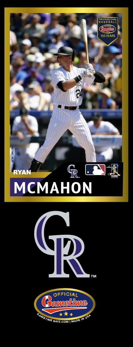 Ryan McMahon Photo Bat | MLB Collection