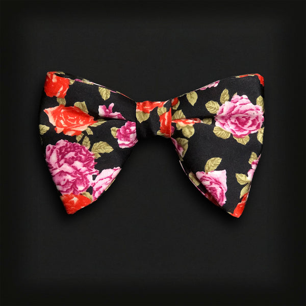 Butterfly Style Bow Tie-Rose print