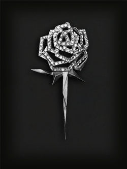 Rose Lapel Pin-Silver