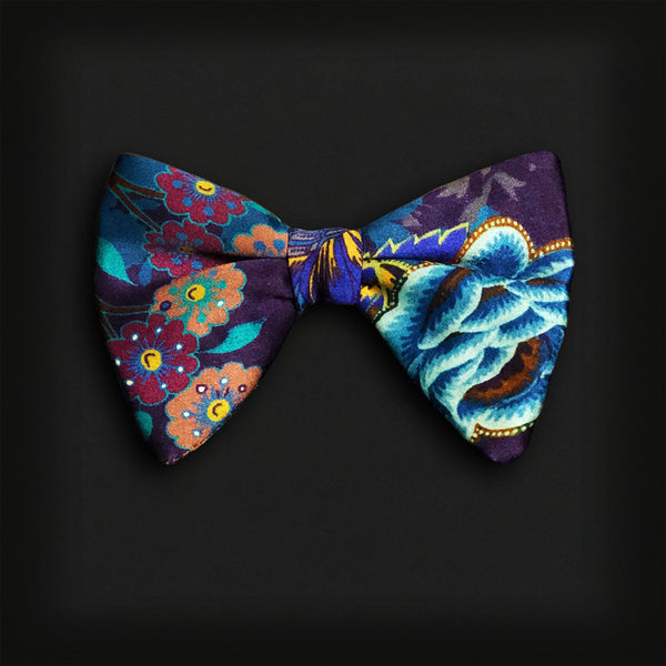 Butterfly Style Bow Tie-Tropical Floral Print