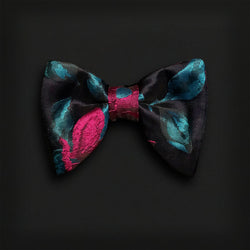 Butterfly Style Bow Tie-Teal/Magenta Brocade