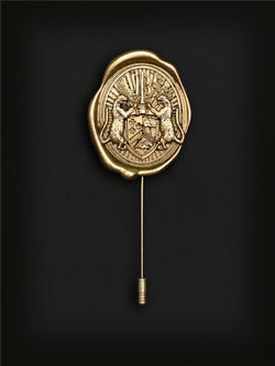 Tyrock Barclay Crest Lapel Pin-Gold