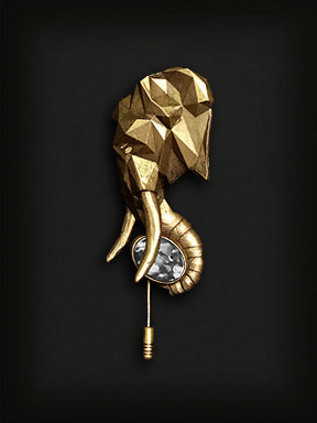 Elephant Lapel Pin-Gold