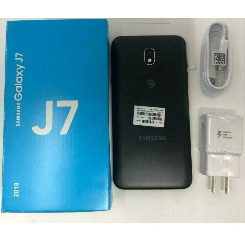 Unlocked New Samsung Galaxy J7 2018 J737A HD 4G LTE AT&T Black Phone - Insta Wireless