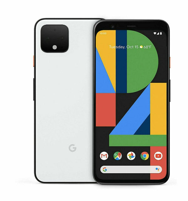 Unlocked Google Pixel 4 64GB (6GB) AT&T GSM World Phone - Just White Black Orange - Insta Wireless
