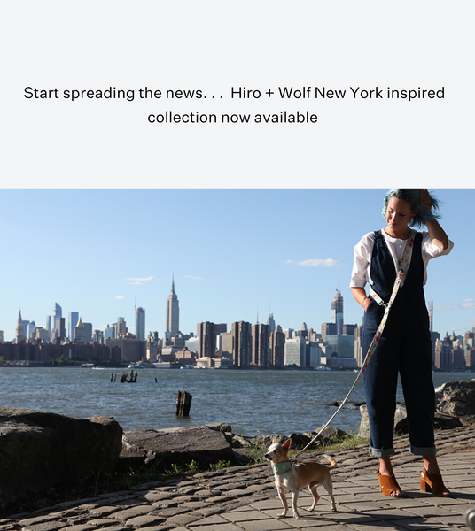 Hiro + Wolf New York! New York Dog Accessories Collectio