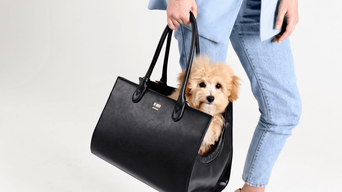 St Argo Vegan Leather Dog Carrier