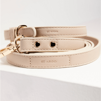 St Argo Vegan Pink Leather Dog Collar