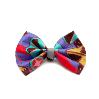 Hiro + Wolf Kaleidoscope Dog Bow Tie
