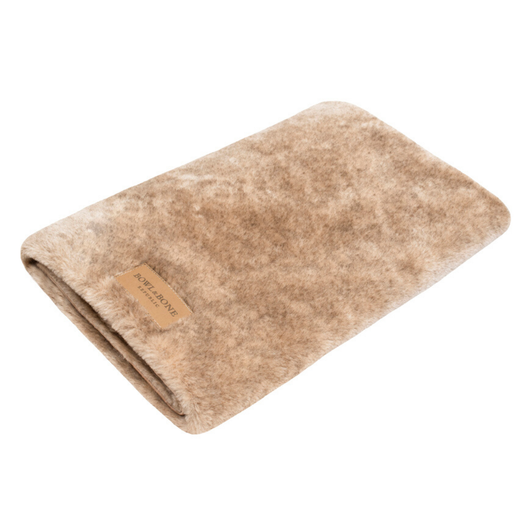 Bowl&Bone Republic Dog Blanket Nap Brown