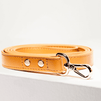 St Argo Ruby Red Vegan Leather Dog Lead
