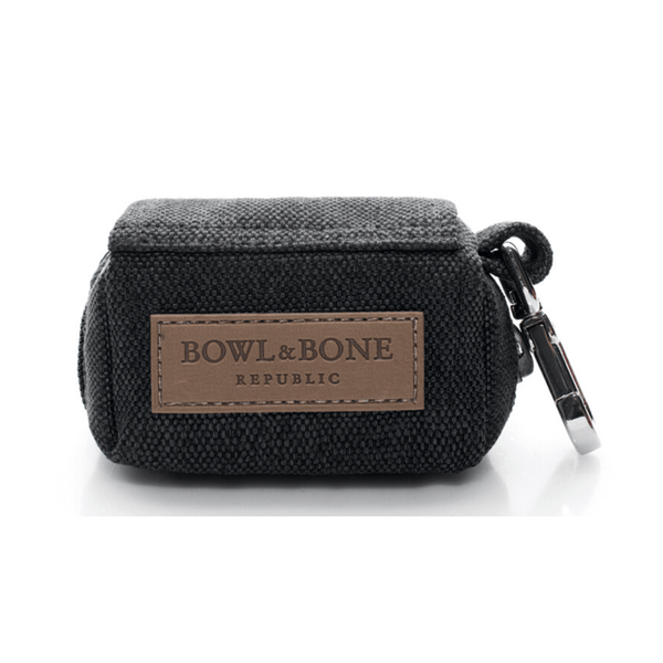 Bowl&Bone Dog Waste Bag with Lead Black
