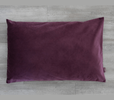 James Plush Dog Bed - Plum