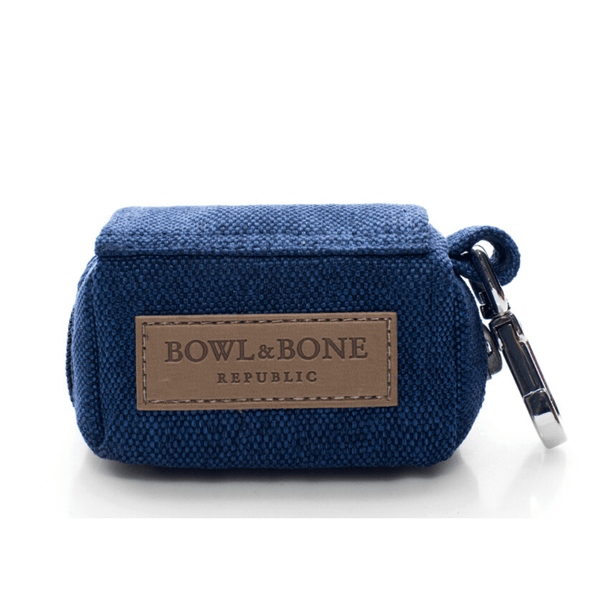 Bowl&Bone Dog Waste Bag with Lead Blue