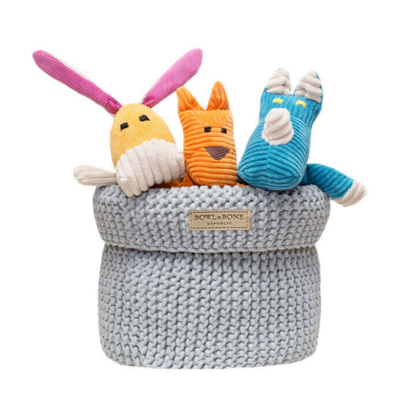 Bowl & Bone Republic Dog Toy Basket