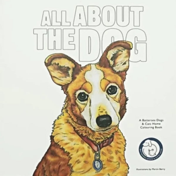 All About The Dog Colouring In Book