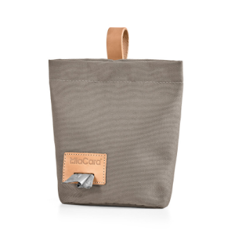 MiaCara Dog Treat & Poop Bag Taupe