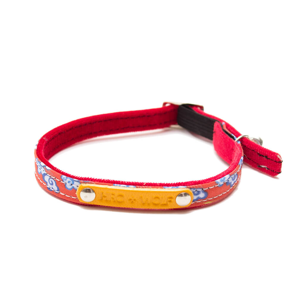 Hiro + Wolf Chinese Clouds Cat Collar