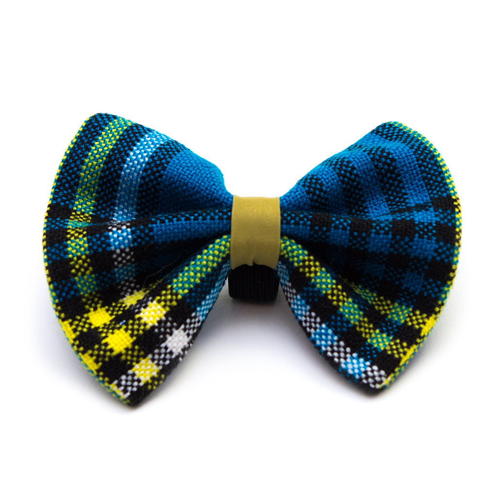 Hiro + Wolf Coastal Shuka Blue Cat Bow Tie