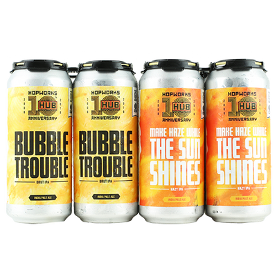 Hopworks Urban Brewery Bubble Trouble, Hopworks Urban Brewery Make Haze While The Sun Shines
