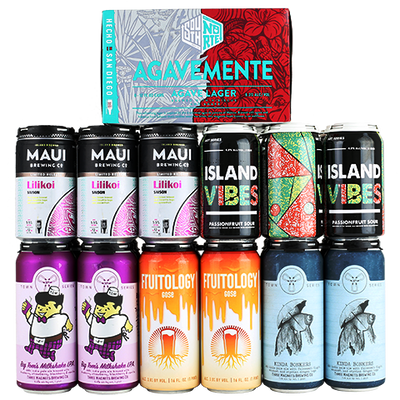 Three Magnets Big Tom's Milkshake IPA, Three Magnets Kinda Bonkers IPA, Burgeon Fruitology, Maui Lilikoi Saison, Coronado Island Vibes, SouthNorte AgaveMente