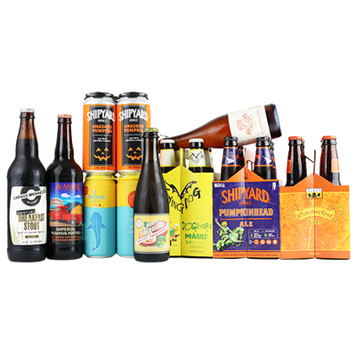 Garage Bourbon Barrel Aged Breakfast Stout, Alaskan Imperial Pumpkin Porte, Offshoot Relax [it's just a hazy IPA], Shipyard Pumpkinhead, Flying Dog Dogtoberfest, Allagash Farm to Face