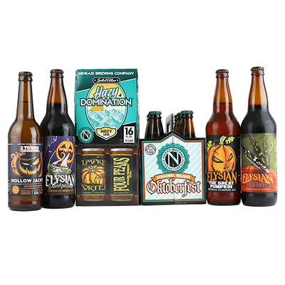 2 Towns Hollow Jack. Elysian Punkuccino Coffee Pumpkin Ale. Ninkasi Oktoberfest, Elysian The Great Pumpkin Imperial Pumpkin Ale, Ninkasi Hazy Domination, Elysian Dark Knife Pumpkin Schwarzbier