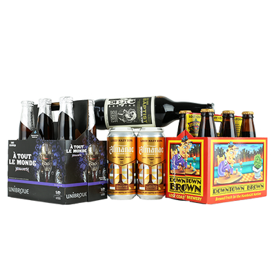 Almanac LOUD! Hazy DIPA, Lost Coast Downtown Brown, Unibroue Megadeth A Tout Le Monde
