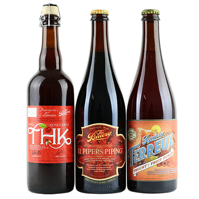 The Bruery 11 Pipers Piping, The Bruery Terreux Frucht: Fruit Punch, De Proef / The Bruery THK - Tripel Honey Kriek