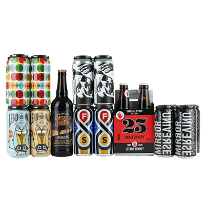 Modern Times / Fair State Spirit Foul, Pizza Port Over The Falls Unfiltered DIPA, Burgeon / Stone Mojay IPA, Left Hand 25th Anniversary