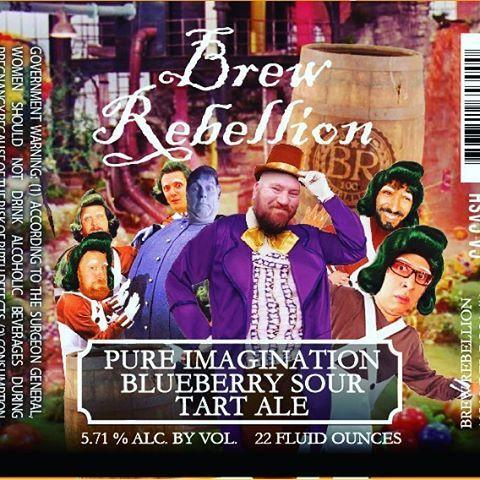 Brew Rebellion Pure Imagination Blueberry Sour Tart Ale
