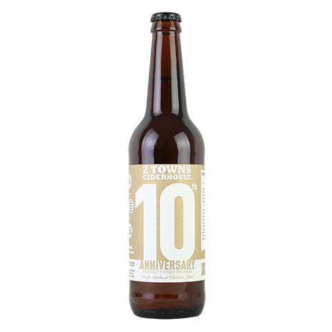 2 Towns 10th Anniversary Cider
