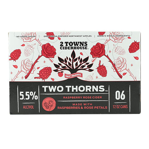 2 Towns Two Thorns Cider