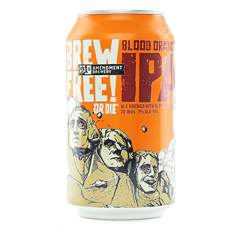 21st Amendment Brew Free! or Die Blood Orange IPA