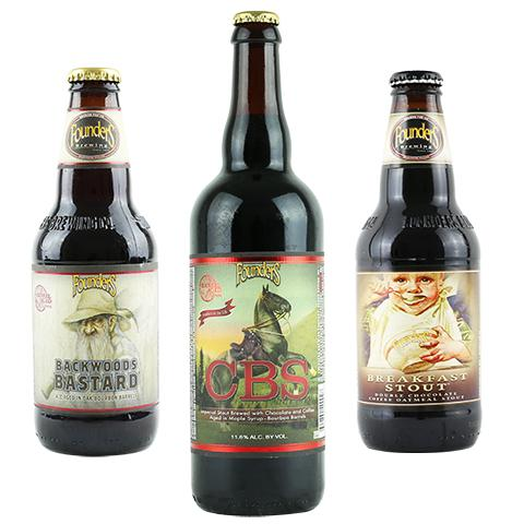 Founders CBS Imperial Stout / Backwoods Bastard / Breakfast Stout 3PK