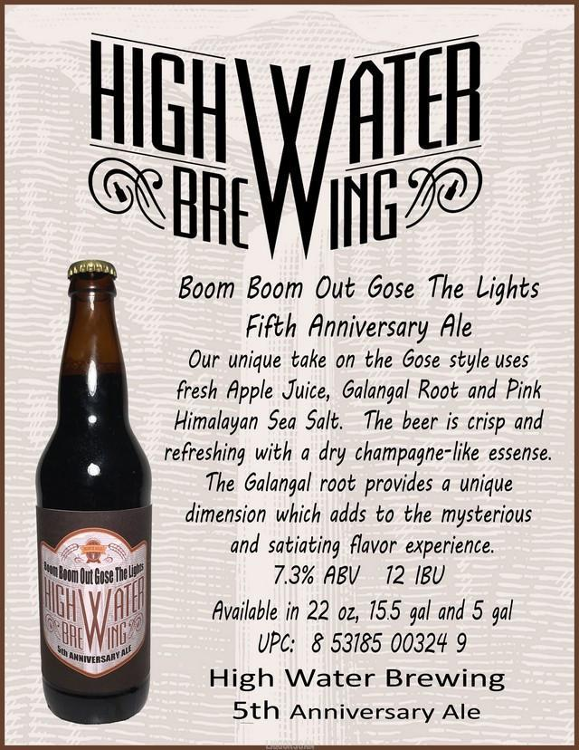 High Water Boom Boom Out Gose the Lights