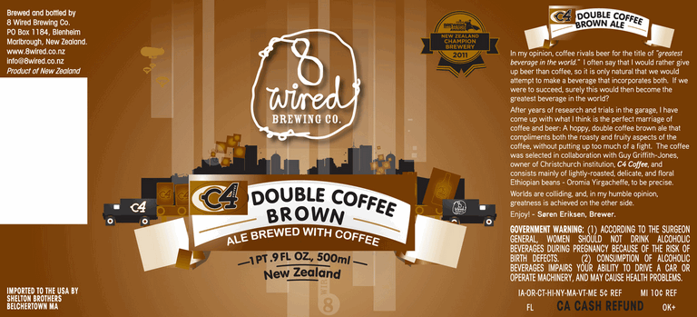 8 Wired C4 Double Coffee Brown Ale