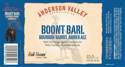 Anderson Valley Boont Barl Bourbon Barrel Aged Amber Ale