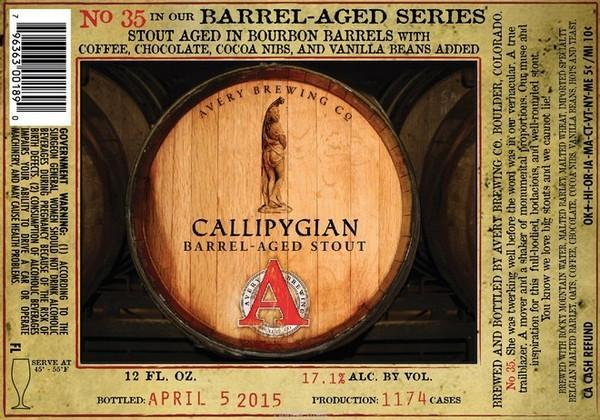 Avery Callipygian Barrel-Aged Imperial Stout