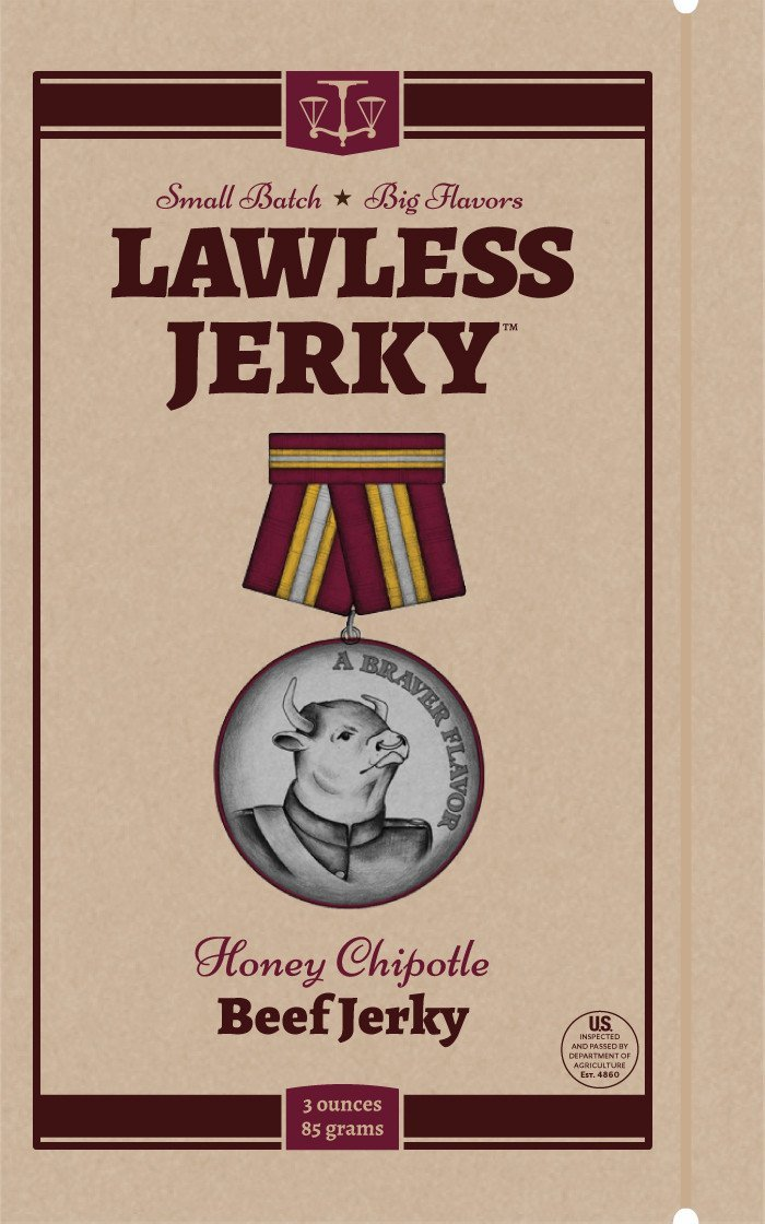 Lawless Honey Chipotle Beef Jerky
