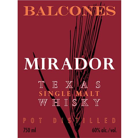 Balcones Mirador Single Malt Whisky