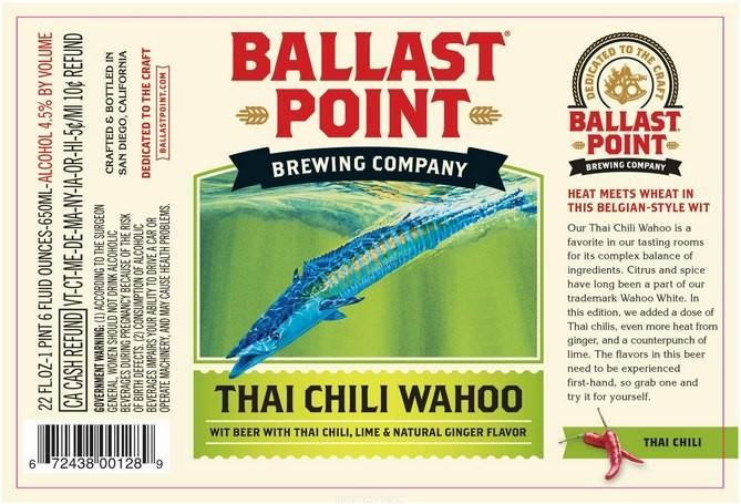 Ballast Point Thai Chili Wahoo Wheat