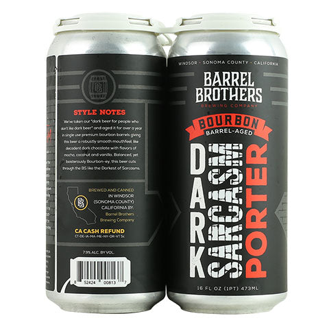 Barrel Brothers Dark Sarcasm (Bourbon Barrel Aged) Porter