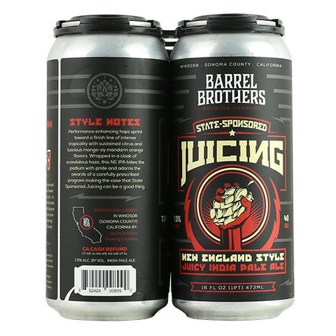 Barrel Brothers State Sponsored Juicing IPA