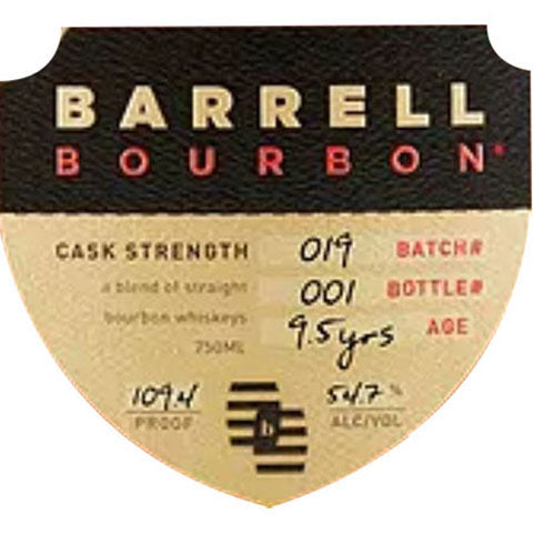 Barrell Bourbon Batch 19 Cask Strength 9.5 Year Old Bourbon Whiskey