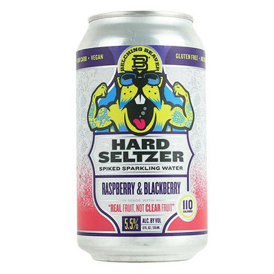 Belching Beaver Hard Seltzer Raspberry & Blackberry